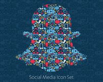 Snapchat Social Media Icons Royalty Free Stock Image