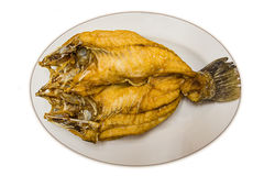 Snapper fish. Is fried on dish for isolate Royalty Free Stock Image