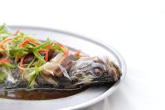 Snapper fish is steamed Stock Photography