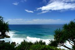 Snapper Rocks. View of the beach from Snapper Rocks headland, Gold Coast, Australia Stock Photo
