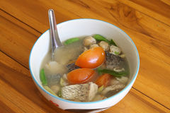 Snapper soup tastes good in bowl Royalty Free Stock Photos