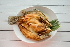 Snapper topped with sauce. Thai Food : Ingredients of Fish fried with Chili Sweet Sauce. Image for menu list.Fried Fish with Fish Sauce or Snapper topped with royalty free stock photos
