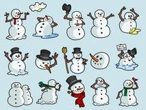 Snappy χιονάνθρωποι στοκ εικόνες