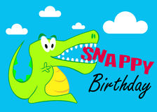A Snappy Birthday Crocodile Illustration Royalty Free Stock Images