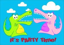 A Snappy Crocodile Party Illustration Stock Photo