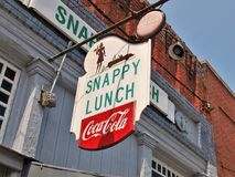 Snappy Lunch Diner. The Snappy Lunch diner in Mt. Airy North Carolina, Andy Griffith`s home town. The characters on the Andy Griffith Show often referred to the stock photography