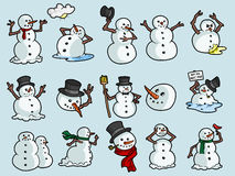 Snappy Snowmen Stock Images