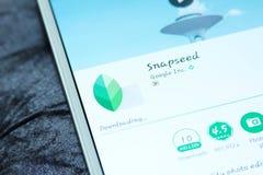 Snapseed-mobie APP Lizenzfreies Stockbild