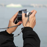 Snapshot. Taking snapshot with a modern digital ultrazoom camera Stock Images