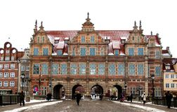 The eastern gate of the city of Gdansk Stock Photos