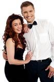 Snapshot of cheerful attractive couple Stock Photos