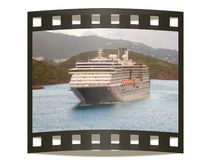 Snapshot of cruise liner Stock Images