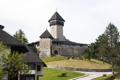 Adapted medieval historic castle in town of Velika Kladusa Royalty Free Stock Photography