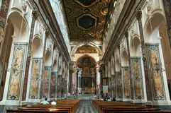 Inside of Amalfi Chatedral Stock Photography