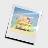 Snapshot of lifeguard stand Royalty Free Stock Photo
