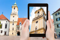 Snapshot of Old Town Hall in Bratislava Royalty Free Stock Image