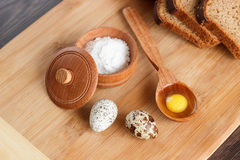 Snapshot of quail eggs Royalty Free Stock Image