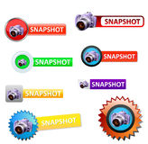 Snapshot set. Design snapshot set -  illustration Royalty Free Stock Image