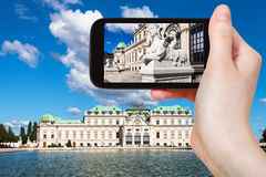 Snapshot of sphinx statue near Belvedere Palace Stock Photography