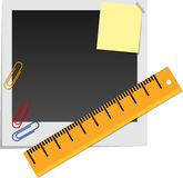 Snapshot and stationery Stock Image