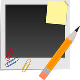 Snapshot and stationery Royalty Free Stock Image