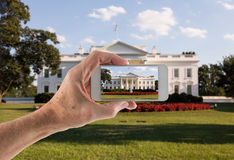 Snapshot of White House Washington DC royalty free stock photography