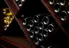 Snapshot of the wine cellar. Royalty Free Stock Photos
