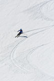 Snapshot of a woman skiing royalty free stock photography