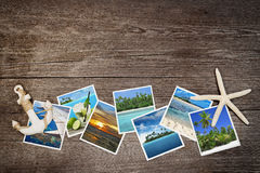Snapshots of tropical islands Royalty Free Stock Photography
