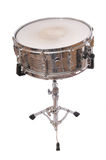Snare drum. A snare drum standing on a stand isolated on white Stock Photography