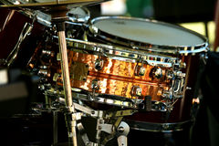 Snare drum. A close up of a Snare drum Royalty Free Stock Image