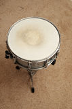 Snare Drum. Above view of a snare drum on a stand on a carpet Stock Images