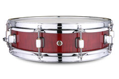 Snare Drum. Red snare drum on white background Stock Photography