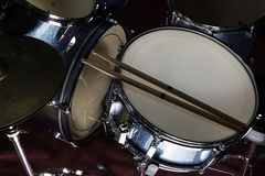 Snare drum in black background Royalty Free Stock Images