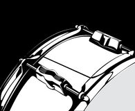 Snare drum black-white version Royalty Free Stock Photo