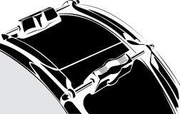 Snare drum black-white version Stock Photos