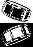 Snare drum black-white version. Vector Series. Snare drum black-white version Stock Photos