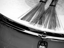 Snare Drum with Brushes Royalty Free Stock Photography
