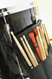 Snare Drum and Drum Sticks Stock Photography