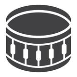 Snare Drum glyph icon, music and instrument. Beat sign vector graphics, a solid pattern on a white background, eps 10 Stock Photography