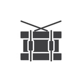 Snare drum icon vector, filled flat sign, solid pictogram isolated on white. Symbol, logo illustration. Pixel perfect Royalty Free Stock Photography