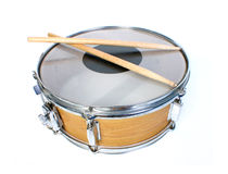 Snare drum isolated. Over white background Stock Photos