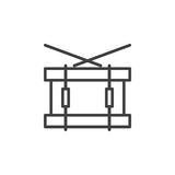 Snare drum line icon, outline vector sign, linear style pictogram isolated on white. Symbol, logo illustration. Editable stroke. Pixel perfect Royalty Free Stock Images