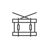 Snare drum line icon, outline vector sign, linear style pictogram isolated on white. Symbol, logo illustration. Editable stroke. Pixel perfect Stock Photo