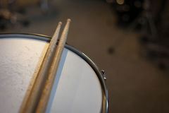 Snare Drum with pair of sticks Royalty Free Stock Images