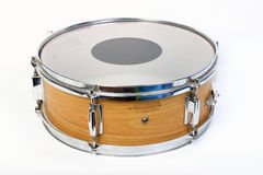 Snare drum. Single snare drum isolated over white Royalty Free Stock Photography