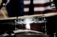Snare drum. Close up of patriotic snare drum Royalty Free Stock Image
