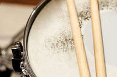 Snare drum and sticks Royalty Free Stock Image