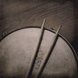 Snare Drum and Sticks Royalty Free Stock Photos
