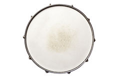 Snare Drum Top. View isolated on white Royalty Free Stock Photo